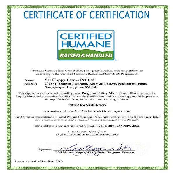 rsz happy hens hfac   certified humane certificate